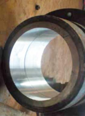 四輥軋機液壓缸體修復